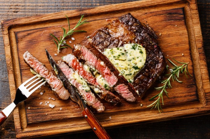Ribeye Steaks With Herb Butter Louisiana Grills Recipes