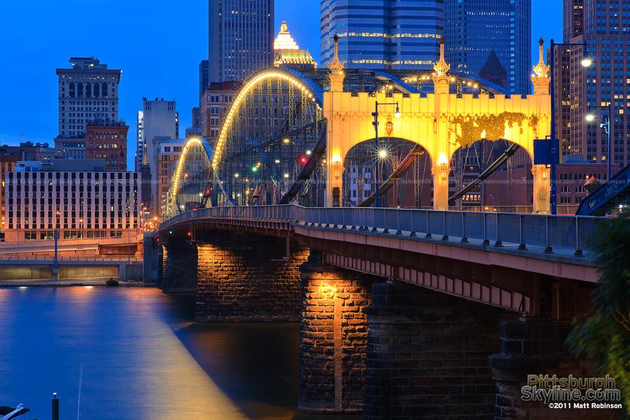 Smithfield Street Bridge at dusk