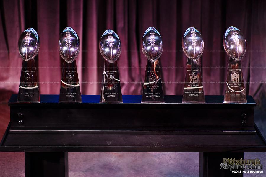 Pittsburgh Steelers Six Lombardi Superbowl Trophies