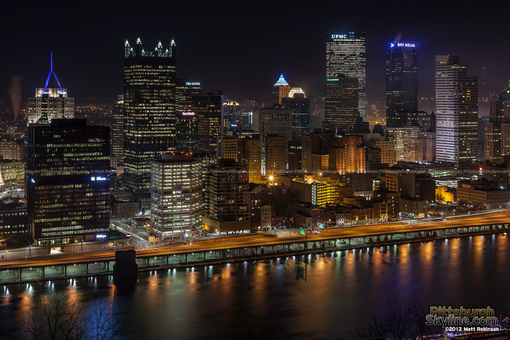 Mt. Washington Pittsburgh Skyline on Light Up Night 2012