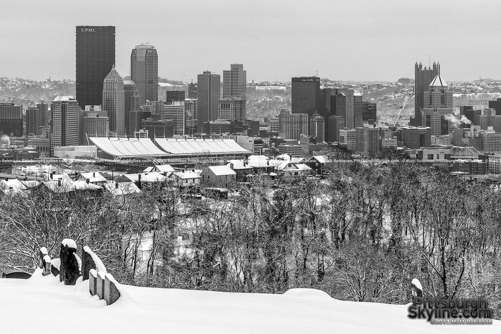 Pittsburgh from Spring Hill after a snowstorm