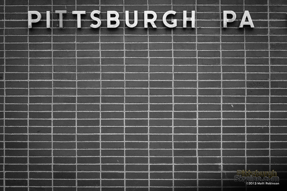 Black and White Pittsburgh Letters