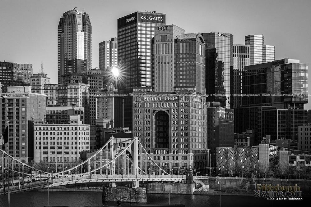 Black and White Pittsburgh from PNC Park