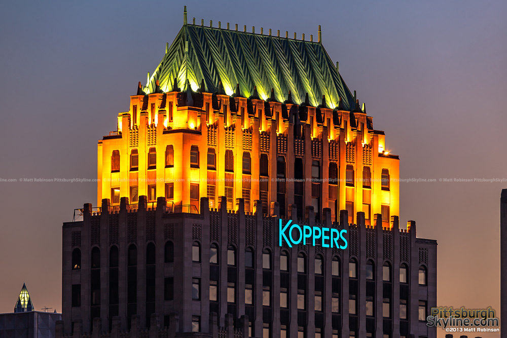 The Koppers building with highwall sign
