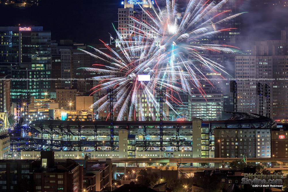 Pyrotechnics over PNC Park