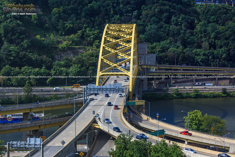Fort Pitt Bridge from the Wyndham Grand