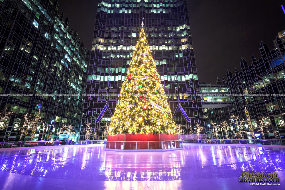 Christmas Tree at the Rink at PPG Place