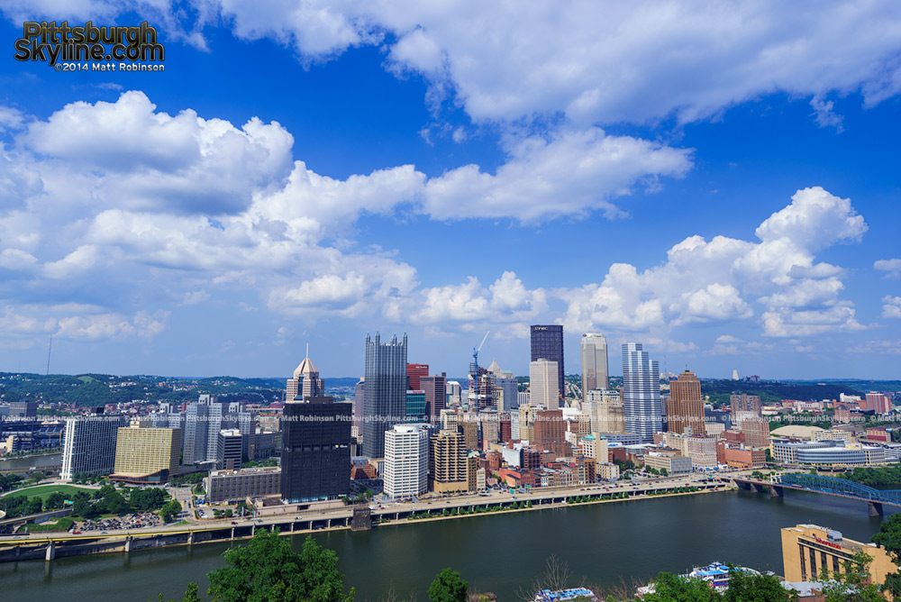 Classic Pittsburgh view from Mt. Washington