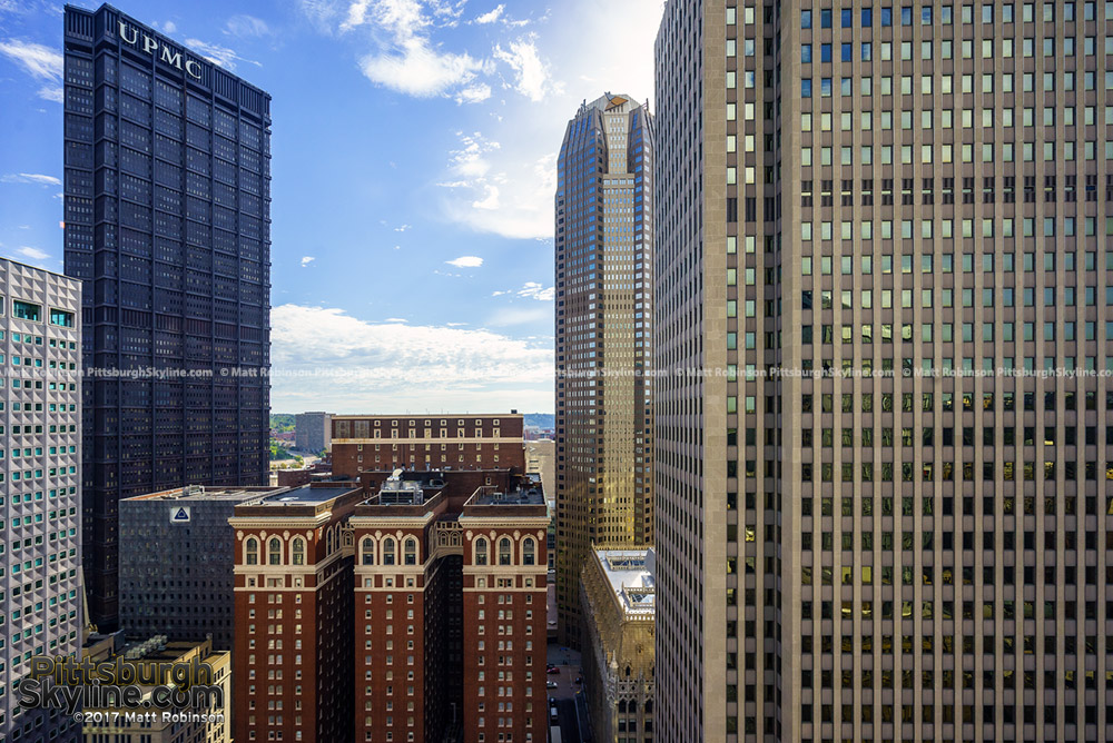 View of the 525 William Penn Place and 600 Grant Street from the Oliver Building