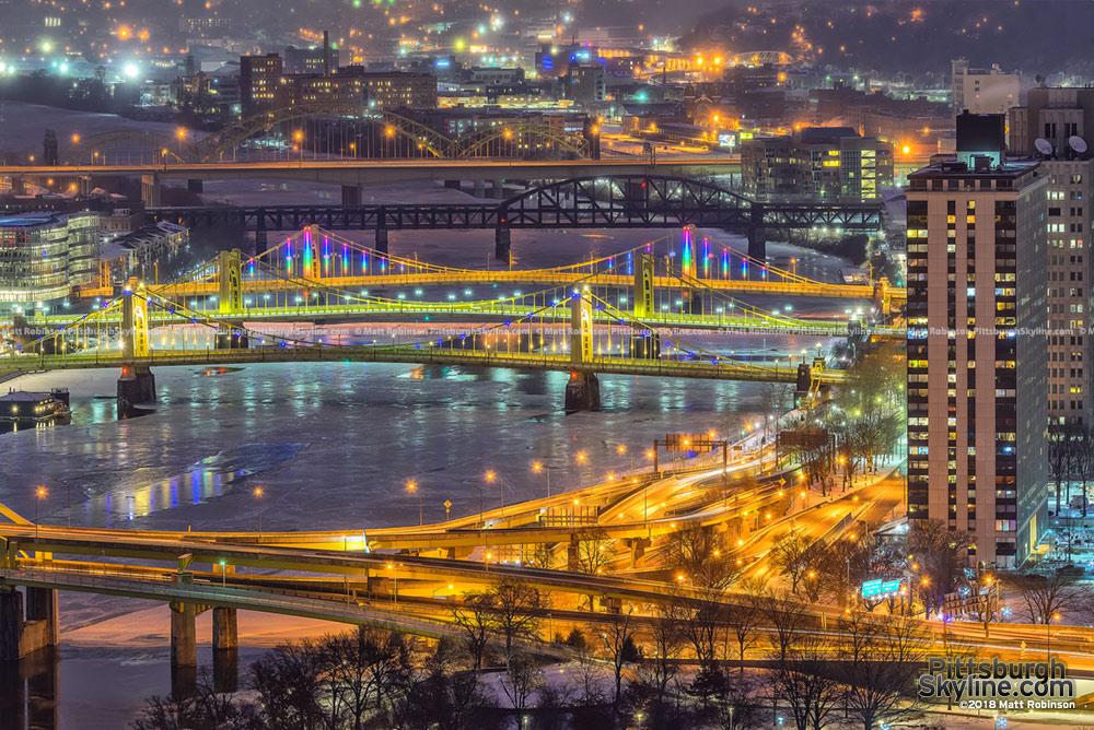 Icy Pittsburgh Scene