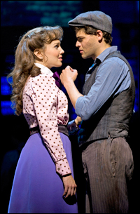 Image result for newsies kara lindsay and jeremy jordan