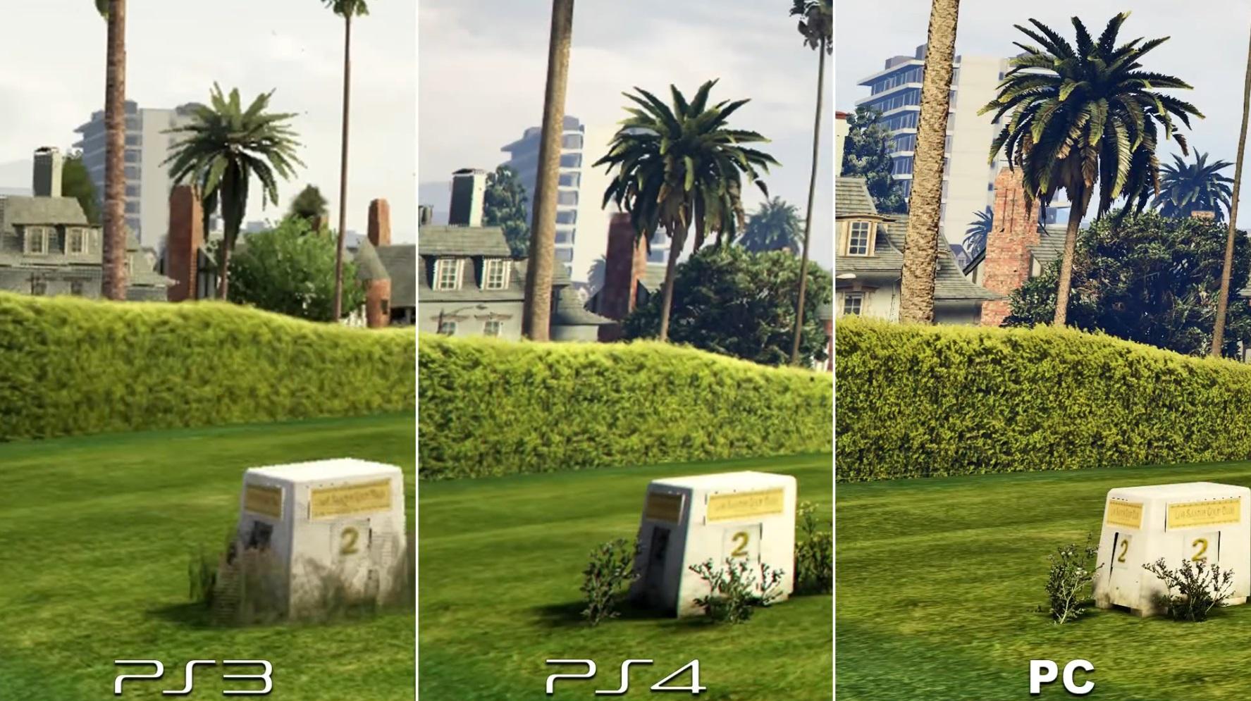 GTA 5 Comparatif Graphique PC 4K PS4 Et PS3 En Images