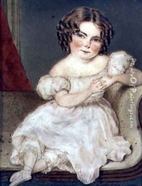 Augusta FitzHerbert, 1833 Oil Painting - William the Elder Corden