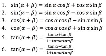 Rumus Jumlah Dan Selisih Dua Sudut Matematika