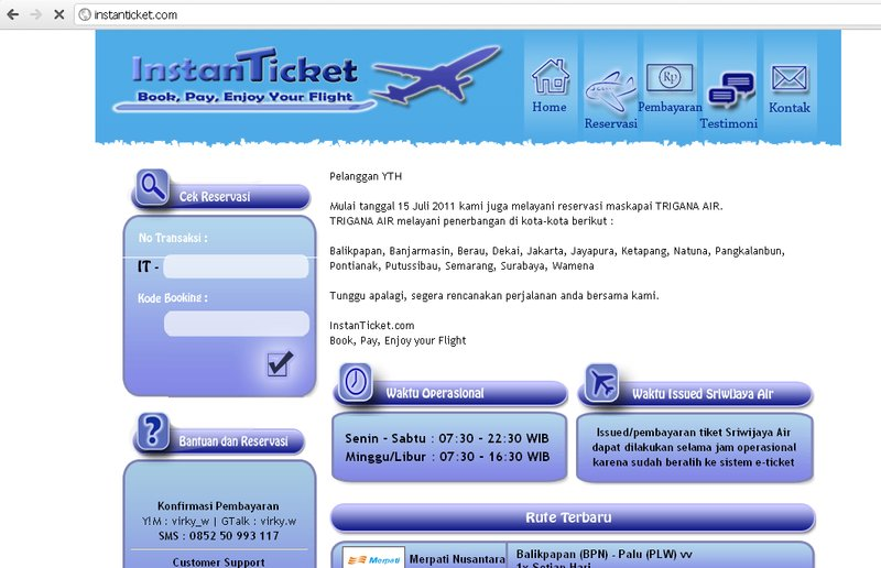 Screenshot Instanticket