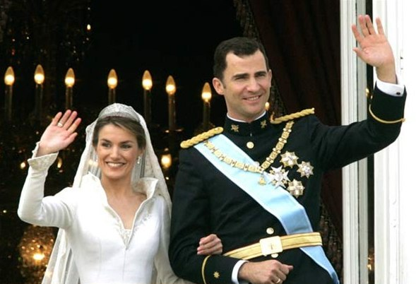 Prince Felipe of Spain and Letizia Ortiz Rocasolano Royal weddings  around the world Royal Weddings Over Time