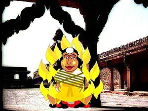 Afbeeldingsresultaat voor vuurfeest hindoe