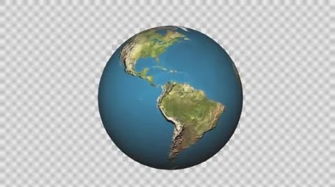 Video 3D Spinning Earth On Transparent Background 56603644