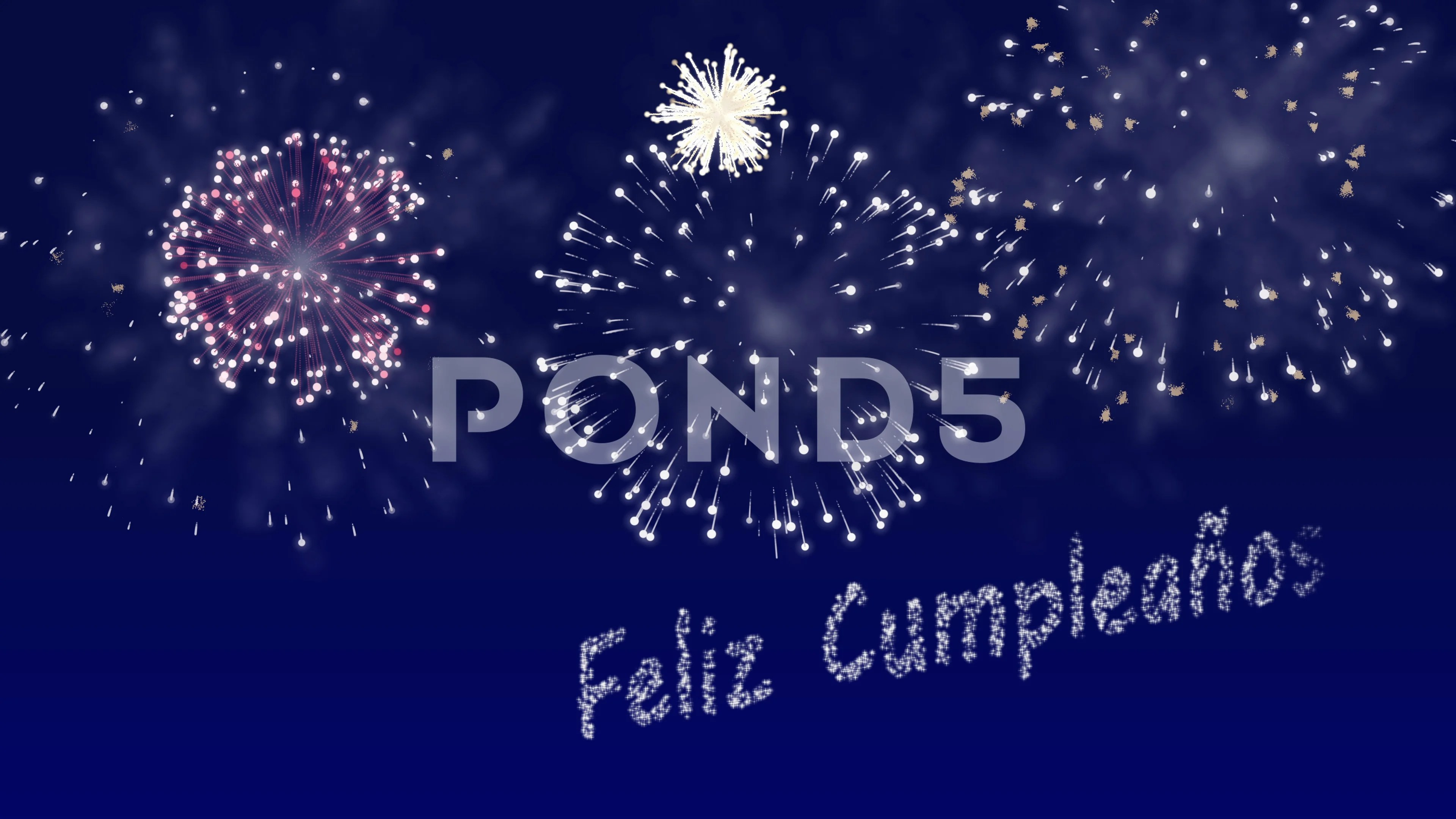 Looping Fireworks Animation With Happy B Stock Video Pond5