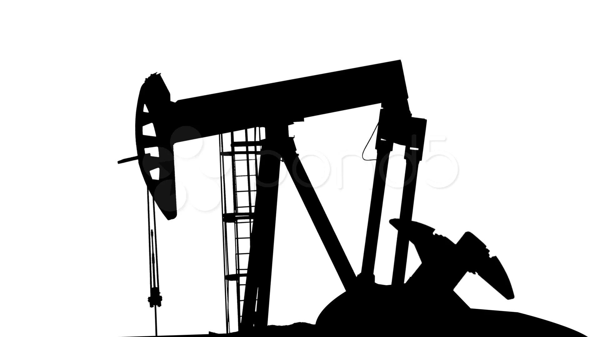 Matte Of Oil Pumping Rig Hi Res Video
