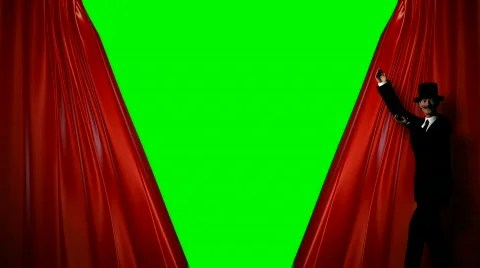 curtains green screen stock video