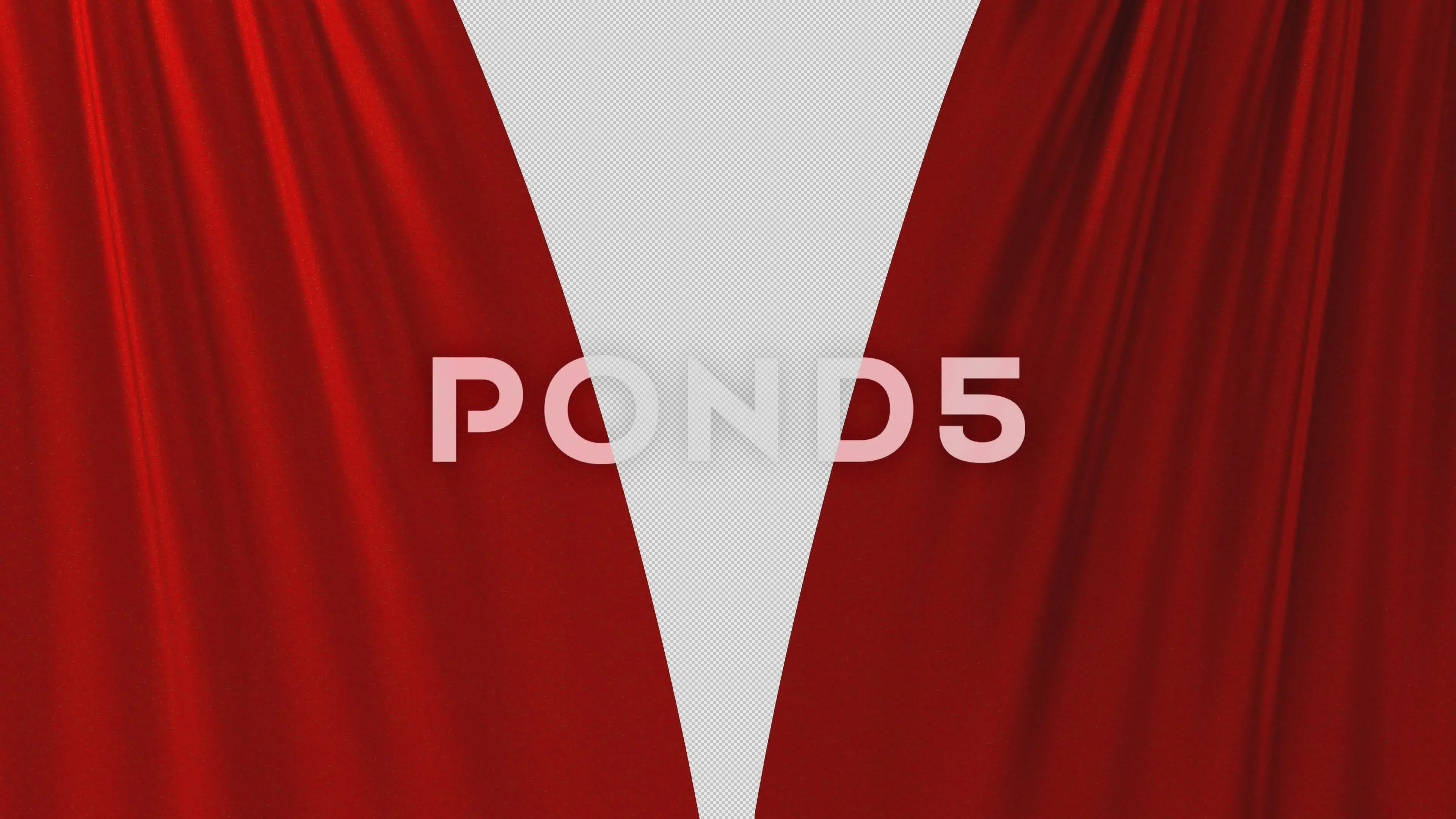 Red Curtain Opening With Alpha Channel 4k 63403989