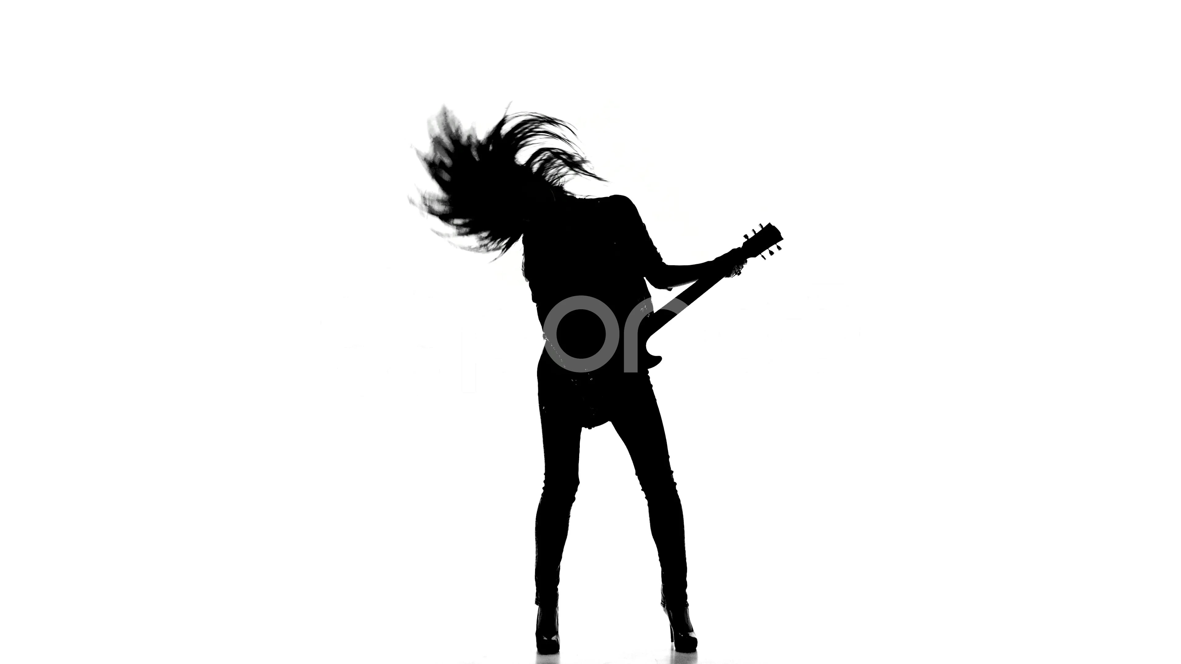 Video Silhouette Of A Young Girl Playing Dancing On
