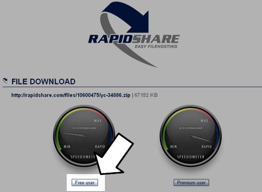 Como baixar arquivos no rapidshare (1)