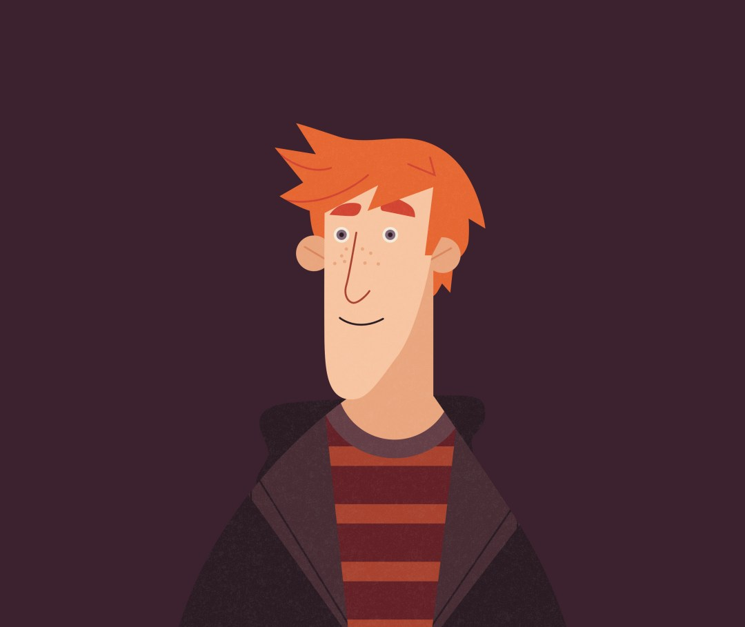 Illustration of George Weasley from the Dumbledore's Army infographic