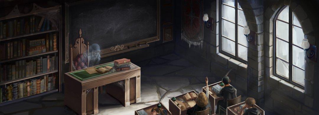 Binns teaches the class about the Chamber of Secrets