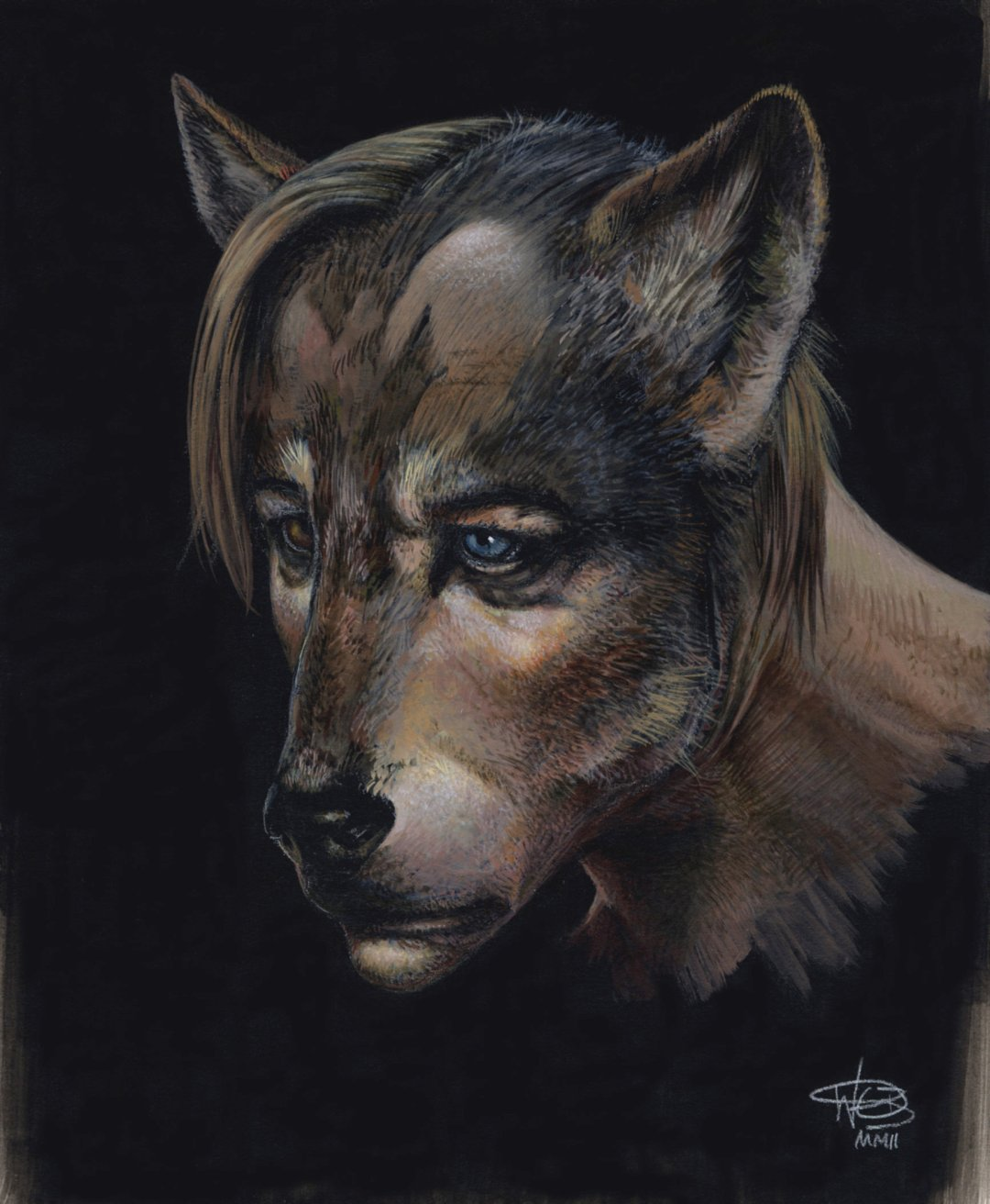 Lupin as a werewolf