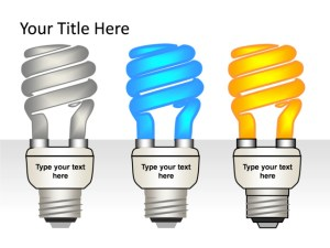 PowerPoint Slide  Light bulb Diagram  3D  3Lightbulbs