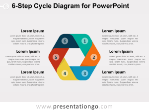 6Step Cycle Diagram for PowerPoint  PresentationGO