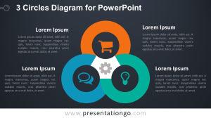 3 Circles Diagram for PowerPoint  PresentationGO