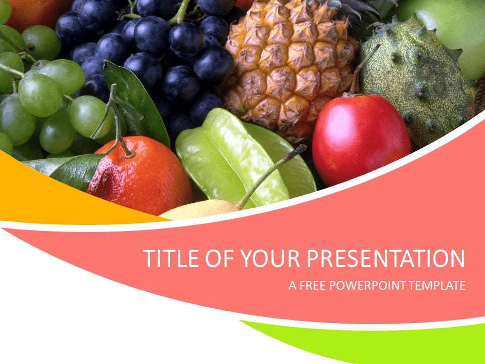 Fruits Powerpoint Template Presentationgo Com