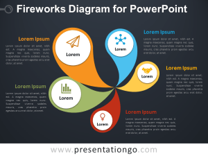 Fireworks Diagram for PowerPoint  PresentationGO