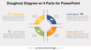 Doughnut Diagram with 4 Parts for PowerPoint  PresentationGO