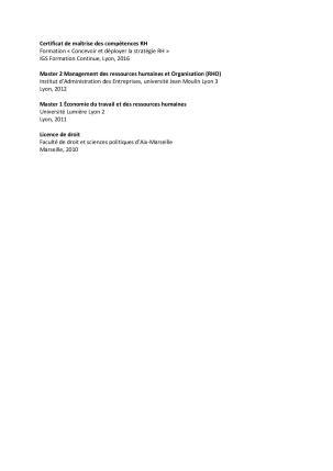 Formation Cv Interet Contenu Et Exemples Cadremploi