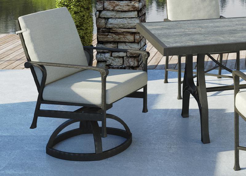 handcrafted luxury outdoor patio