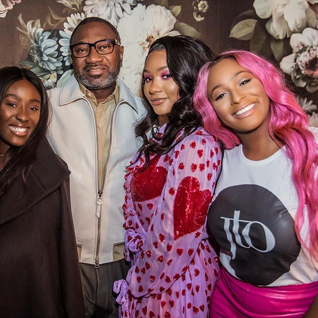 Femi Otedola with his daughters; Tolani, Temi and DJ Cuppy.