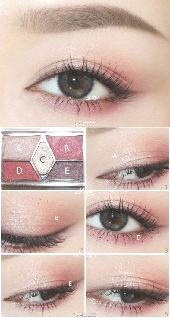 10 Favorite Japanese Korean Eye Makeup Tutorials From Pinterest