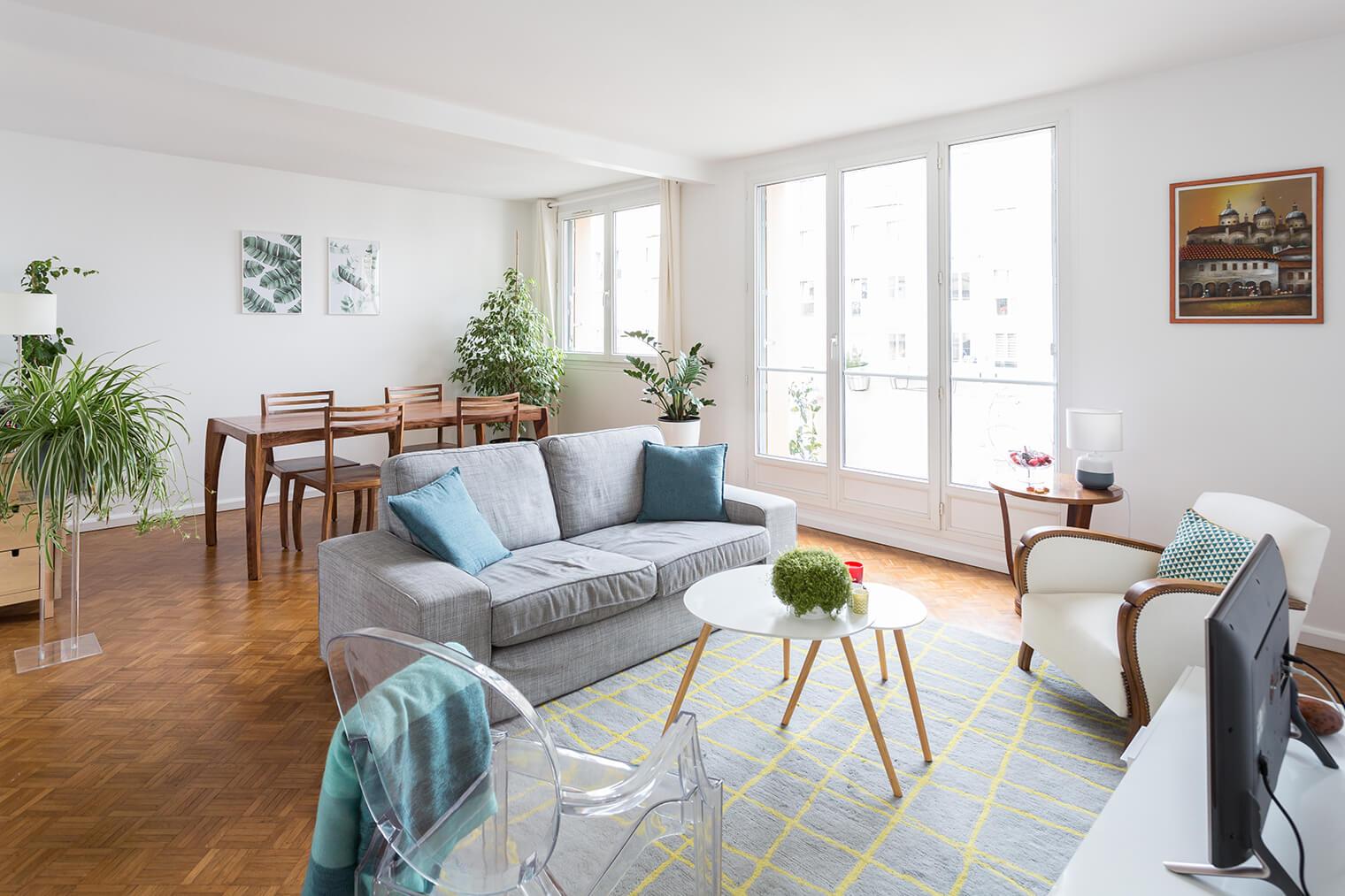 appartement avec parquet damier