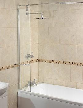 bath screens sliding fold away