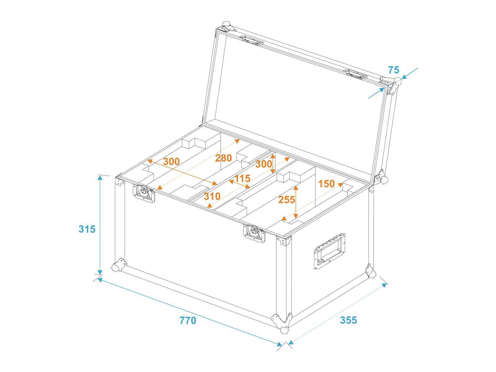 Roadinger Flightcase 2x Tmh 15