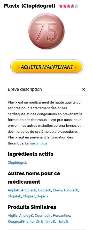 Achat Plavix Générique En France