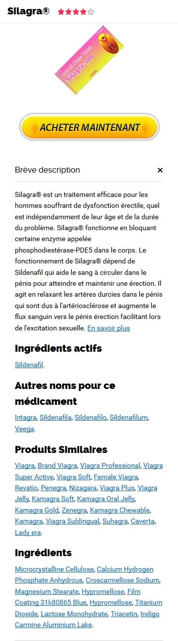 Vente De Silagra 100 mg En Ligne