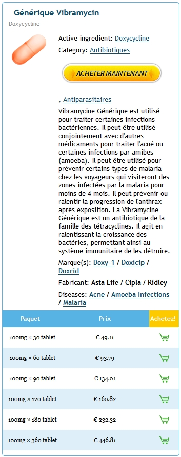 Acheter Vibramycin Online