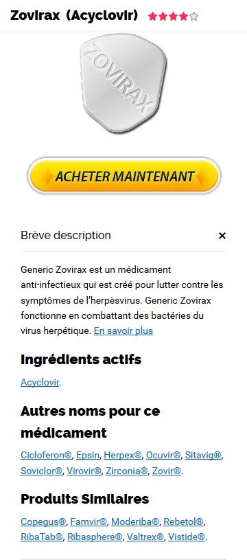 Vente Zovirax En Ligne France