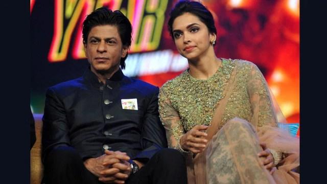 Shah Rukh Khan and Deepika Padukone.  Photo: AFP