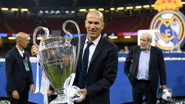 Zidane has gifted Real Madrid a total of five Champions Leagues as a player and coach. Photo: Twitter